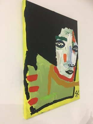 (CreativeWork) Amelia Earheart (Picasso Eye Series)    by Kate Rogers. Acrylic Paint. Shop online at Bluethumb.