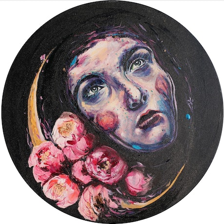 (CreativeWork) NIGHT by Lily Iris. Acrylic Paint. Shop online at Bluethumb.