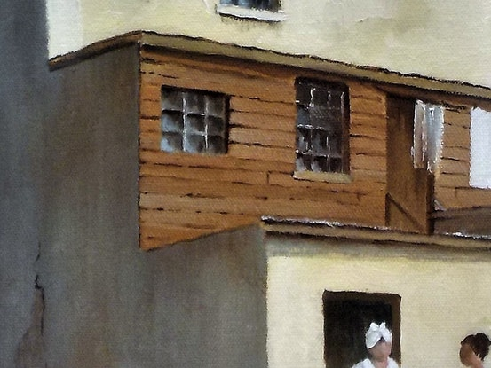 (CreativeWork) Cumberland Place, Sydney 1900's -  by Viv Gregory. Oil Paint. Shop online at Bluethumb.