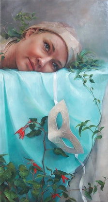 (CreativeWork) Unmasked by Colleen Stapleton. Oil Paint. Shop online at Bluethumb.