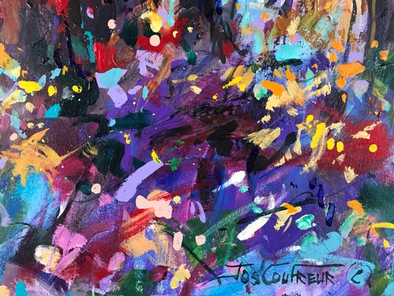 (CreativeWork) Boranup Forest III by Jos Coufreur. Acrylic Paint. Shop online at Bluethumb.