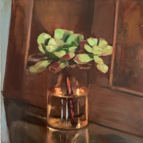 (CreativeWork) Rainy Day Still Life by Rosy Lloyd. Oil Paint. Shop online at Bluethumb.