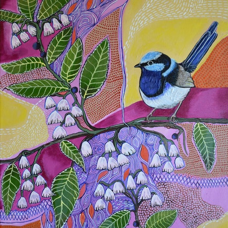 (CreativeWork) Blueberry Ash by Naomi Malone. Acrylic Paint. Shop online at Bluethumb.