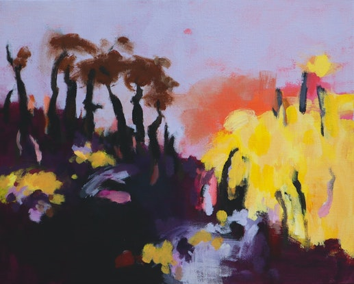 (CreativeWork) Outback- dark and bright by Susan Lhamo. Acrylic Paint. Shop online at Bluethumb.