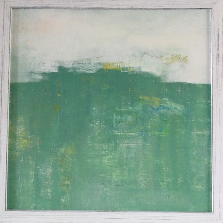 (CreativeWork) Abstract landscape 2020 by Patricia Galloway. Acrylic Paint. Shop online at Bluethumb.