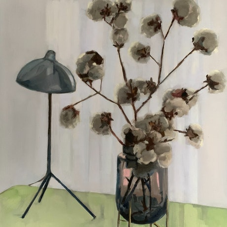 (CreativeWork) Cotton & Light by Rosy Lloyd. Oil Paint. Shop online at Bluethumb.