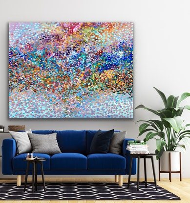 (CreativeWork) Changing Colours  by Theo Papathomas. Acrylic Paint. Shop online at Bluethumb.