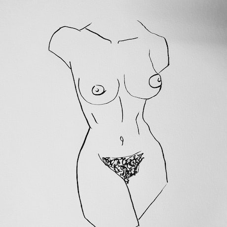 (CreativeWork) Torso ink  by Jasmine Radakovic. Drawings. Shop online at Bluethumb.