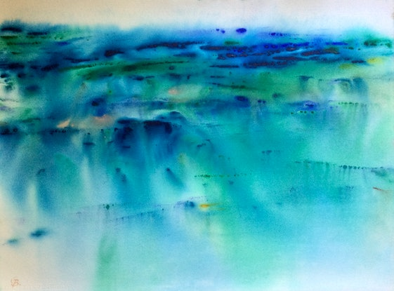 (CreativeWork) Crystalline by Grace Bardini. Watercolour Paint. Shop online at Bluethumb.