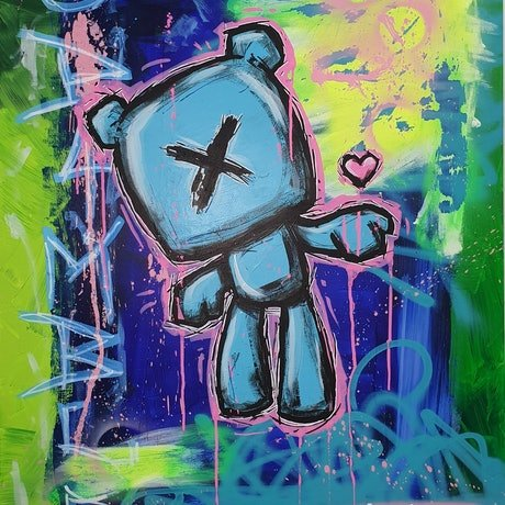 (CreativeWork) Simp Life by Jimmy Bamble. Acrylic Paint. Shop online at Bluethumb.