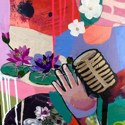 (CreativeWork) Singer by Sandra Oost. Mixed Media. Shop online at Bluethumb.