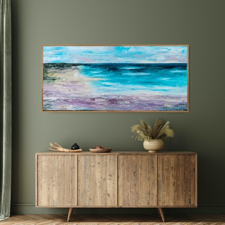 (CreativeWork) Bell Bay by Emiley Rose. Acrylic Paint. Shop online at Bluethumb.