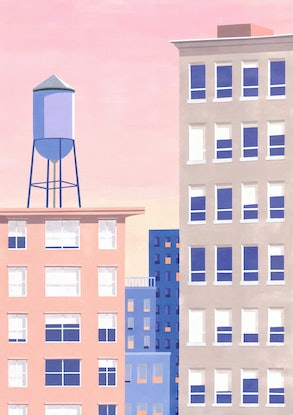 (CreativeWork) Soho no. 3 by Bianca Wilson. Acrylic Paint. Shop online at Bluethumb.