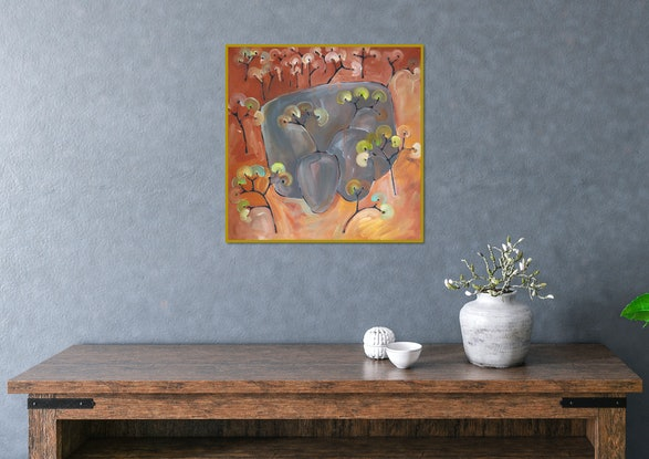 (CreativeWork) Dog Rocks II by Michael Wolfe. Acrylic Paint. Shop online at Bluethumb.