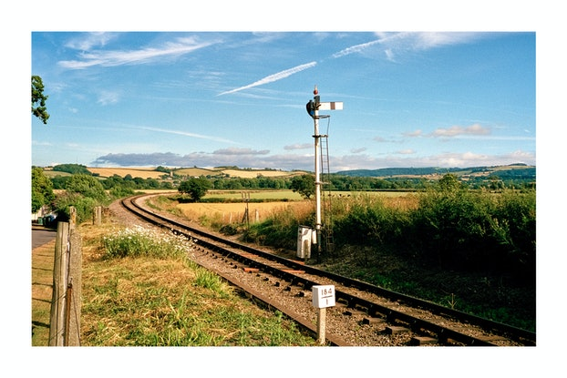 (CreativeWork) Country Trainline (UNFRAMED, MEDIUM) Ed. 1 of 100 by Connor Merrison. Photograph. Shop online at Bluethumb.