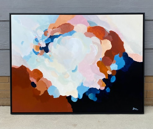 (CreativeWork) Clouds At Dusk 10 | Framed original art by Lauren Danger   by Lauren Danger. Acrylic Paint. Shop online at Bluethumb.
