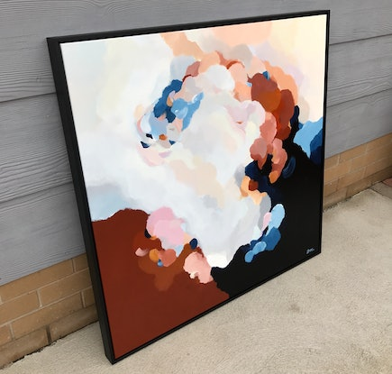 (CreativeWork) Clouds At Dusk 8 | Framed original art by Lauren Danger by Lauren Danger. Acrylic Paint. Shop online at Bluethumb.