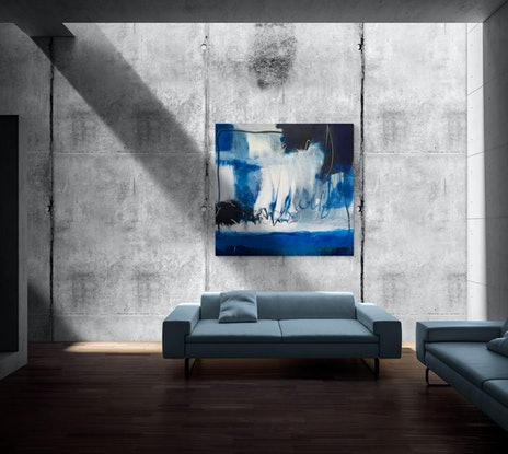 (CreativeWork) ON SALE - I Will Leave The Light On - 170 x 155CM by Cheryl Harrison MAVA. Acrylic Paint. Shop online at Bluethumb.