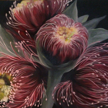 (CreativeWork) Nature's Glory by Julie Christensen. Oil Paint. Shop online at Bluethumb.