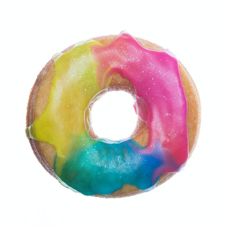 (CreativeWork) DONUT Come for Me - Rainbow Swirl Ed. 2 of 5 by Ali Choudhry. Photograph. Shop online at Bluethumb.