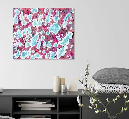 (CreativeWork) Celebration  (Abstract)  by Linda Callaghan. Acrylic Paint. Shop online at Bluethumb.
