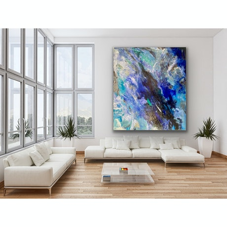 (CreativeWork) Turbulent Collision  by Tracey Berthold. Acrylic Paint. Shop online at Bluethumb.