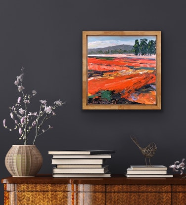 (CreativeWork) Summer on the Farm 12 by Hilly Coufreur. Oil Paint. Shop online at Bluethumb.