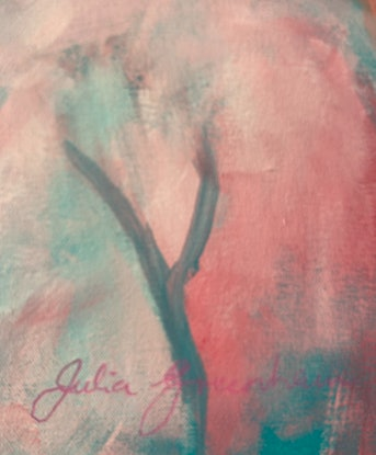 (CreativeWork) The Look  by Julia Greenham. Acrylic Paint. Shop online at Bluethumb.