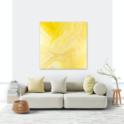 (CreativeWork) Large Yellow Gold Abstract - Wisdom Of My Soul by Michelle Tracey. Acrylic Paint. Shop online at Bluethumb.