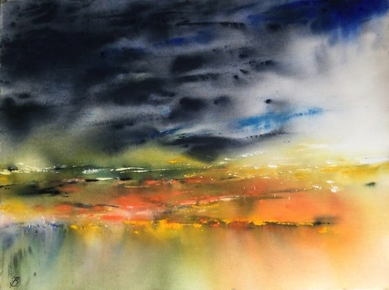 (CreativeWork) Roughly Scenic by Grace Bardini. Watercolour Paint. Shop online at Bluethumb.