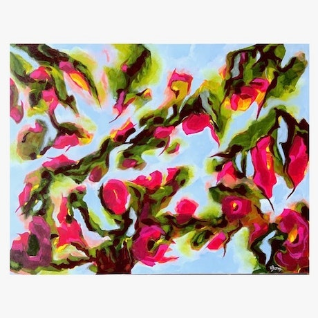 (CreativeWork) Bonnet House by Victoria Beths. Acrylic. Shop online at Bluethumb.