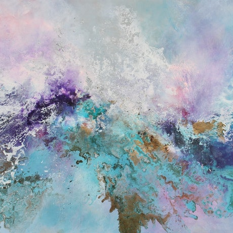(CreativeWork) Spring Delight by Sue Dyde. Mixed Media. Shop online at Bluethumb.