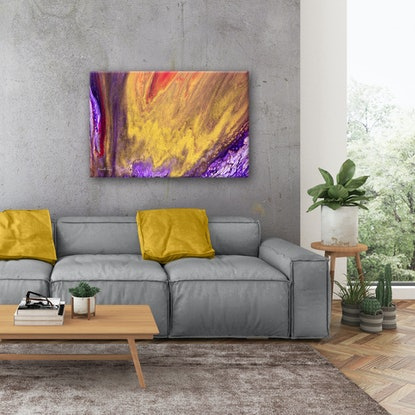 (CreativeWork) Gold Abstract - Creative Inspiration by Michelle Tracey. Acrylic. Shop online at Bluethumb.