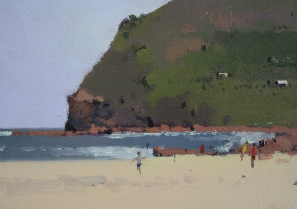 (CreativeWork) Looking South - Garie by David Lake. Oil Paint. Shop online at Bluethumb.