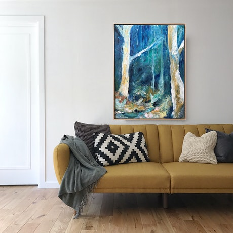 (CreativeWork) Enchanted Bushland by Marnie McKnight. Oil Paint. Shop online at Bluethumb.