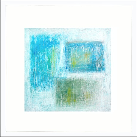 (CreativeWork) MEMORIES -  Framed 53x53cm  by Geoff Birrell. Mixed Media. Shop online at Bluethumb.