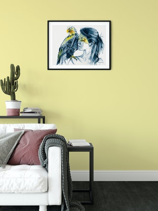 (CreativeWork) Eagle Totem No.2 by Michelle Tracey. Watercolour Paint. Shop online at Bluethumb.