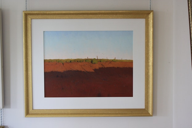 (CreativeWork) Morning Shadow - Silverton by David Lake. Oil Paint. Shop online at Bluethumb.
