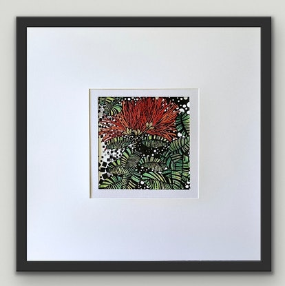 (CreativeWork) Dancing Red Natives 2 by Tania Daymond. Drawings. Shop online at Bluethumb.