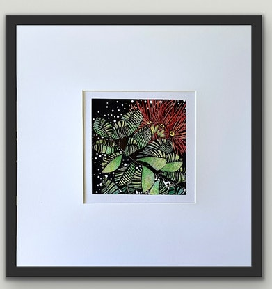 (CreativeWork)  Dancing Red Natives 3 by Tania Daymond. Drawings. Shop online at Bluethumb.