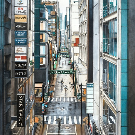 (CreativeWork) A View of Ginza - Large Limited Edition Print Ed. 2 of 50 by Erin Nicholls. Print. Shop online at Bluethumb.