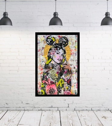 (CreativeWork) Golden Age No2 by Cold Ghost. Mixed Media. Shop online at Bluethumb.