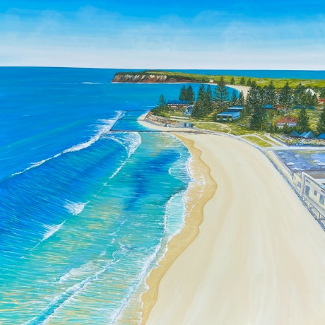(CreativeWork) Collarory to long reef beach  by Jennie Jones. Acrylic Paint. Shop online at Bluethumb.