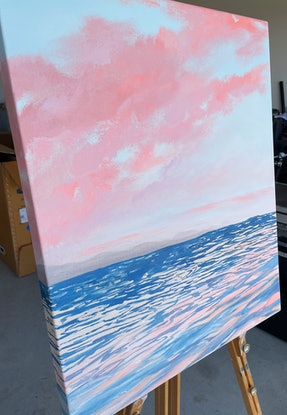 (CreativeWork) Candy Sky by Jessie Wheldon. Acrylic Paint. Shop online at Bluethumb.