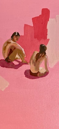 (CreativeWork) Pink Salt by Pip Phelps. Acrylic Paint. Shop online at Bluethumb.