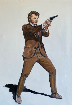 (CreativeWork) Dirty Harry by Stephen Tiernan. Oil. Shop online at Bluethumb.