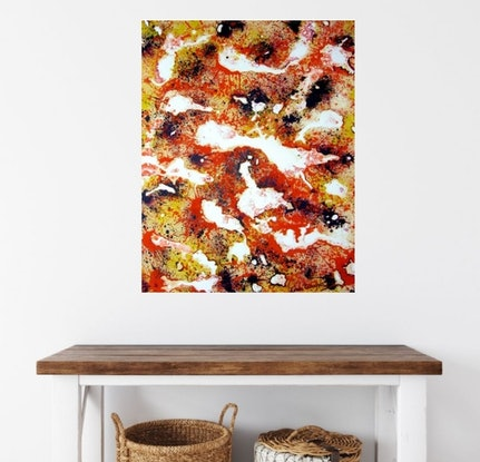 (CreativeWork) Timeless - Abstract by Linda Callaghan. Acrylic Paint. Shop online at Bluethumb.