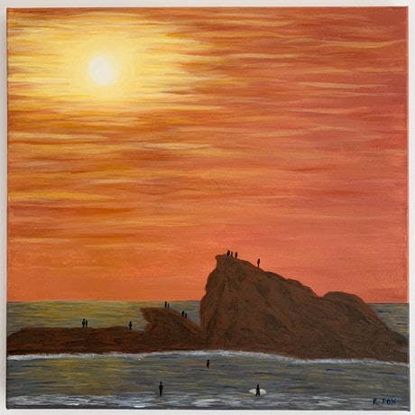 (CreativeWork) Currumbin Alley by Rhianna Fox. Acrylic Paint. Shop online at Bluethumb.