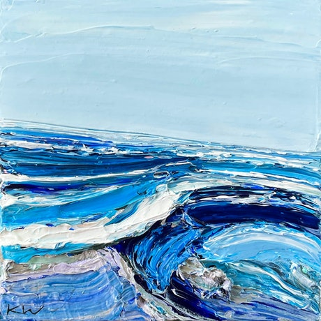 (CreativeWork) Whitehaven I by Katie Wyatt. Acrylic Paint. Shop online at Bluethumb.
