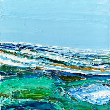 (CreativeWork) Whitehaven III by Katie Wyatt. Acrylic Paint. Shop online at Bluethumb.
